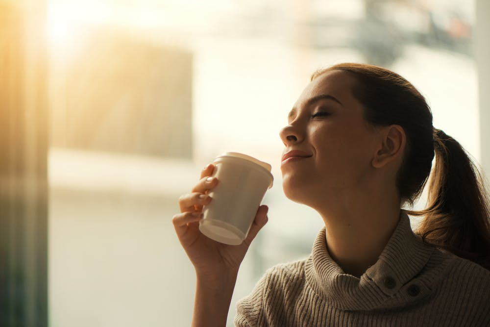 tea coffee in plastic cups