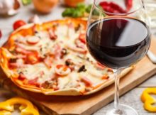 wine pizza