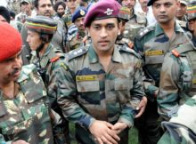 MS Dhoni in Army