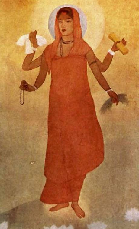 Bharat Mata Painting by Abanindranath Tagore